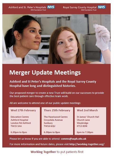 Merger Update Meetings